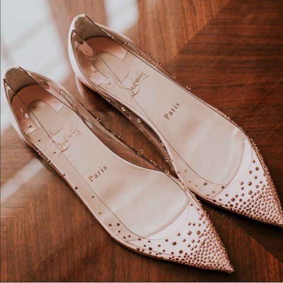 on sale 9d3af 8f048 Christian Louboutin Degrastrass Pink Bridal Flats
